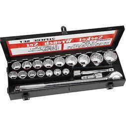 Ironton Heavy- Duty Jumbo Socket Set- 21- Pc, 3/4in- Drive
