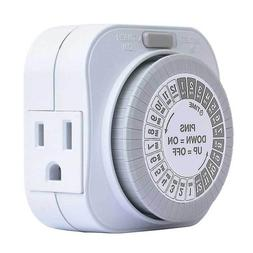 15 Amp 24 Hour Heavy Duty Mechanical Outlet Daily Automatic