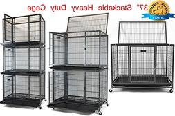 """New Homey Pet 37"""" Heavy Duty Metal Dog Pet Crate Cage Kennel"""