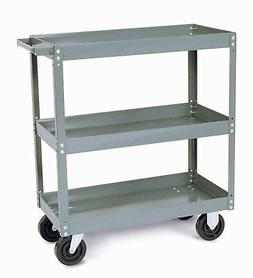 Quantum Storage Heavy Duty Mobile Utility Cart 2 Shelves