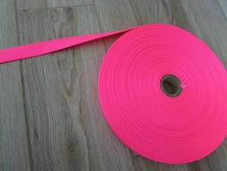 """Heavy Duty Nylon Strapping 1"""" Wide, Neon Pink, 5 Yds."""