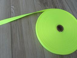 "Heavy Duty Nylon Strapping 1"" Wide, Neon Yellow, 5 yds."