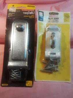 """Stanley Heavy Duty One 7 1/2""""Hinged Hasp & one 6"""" lifespan h"""