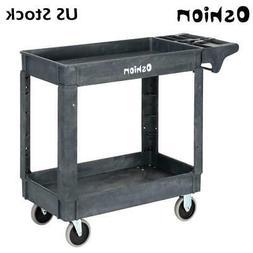 Heavy-Duty Plastic Utility Service Cart 500 lb Capacity 2She