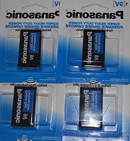 Panasonic 9 Volt Heavy Duty Power Non-Alkaline Batteries, 4