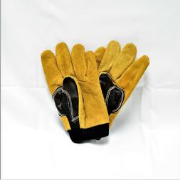 Heavy duty premium leather Work gloves Large set