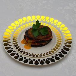 Heavy Duty Premium Plastic Wedding Plates  Droplet Design-Fr