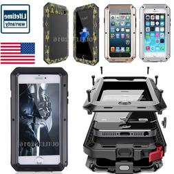HEAVY DUTY Shockproof Aluminum Glass Metal Case Cover iPhone