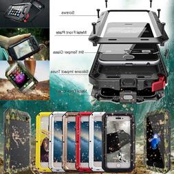 HEAVY DUTY Shockproof Aluminum Gorilla Glass Metal Case Cove