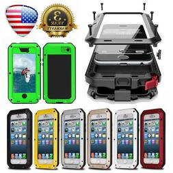 HEAVY DUTY Shockproof Bumper Metal Cover Case Waterproof for