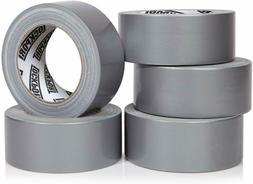 Heavy Duty Silver Duct Tape - 5 Roll Multi Pack Industrial L