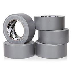 Heavy Duty Silver Duct Tape 5 Roll Multi Pack Industrial Lot