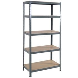 "72"" Heavy Duty Steel 5 Level Garage Shelf Metal Storage Adju"