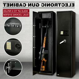 Heavy Duty Steel Rifle Gun Cabinet Safe Storage Firearm Elec