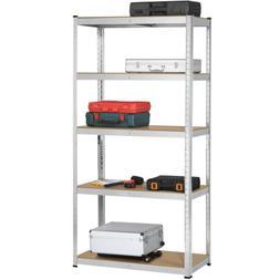 Heavy Duty Storage Rack 5 Level Adjustable Shelves Garage St