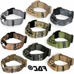 HEAVY DUTY Tactical Military Dog Collar Handle Medium Large