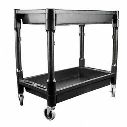 Heavy Duty Utility Cart Dolly | 2 Tray Storage Shelves Servi