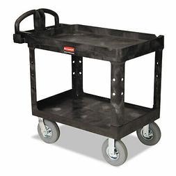 Heavy-Duty Utility Cart, Two-Shelf, 25-7/8w x 45-1/4d x 37-1