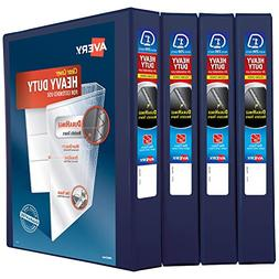 """Avery 1"""" Heavy Duty View 3 Ring Binder, One Touch Slant Ring"""