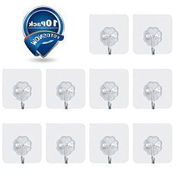 Fotosnow Heavy Duty Wall Hooks 22 lbs Adhesive Hanger Sticke