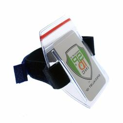 Heavy Duty Waterproof Armband ID Badge Holder / Season Lift