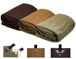 Heavy Duty Waterproof Canvas Tarp 18 Oz. & 100% Cotton Canva