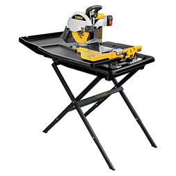 Heavy-Duty Dewalt 10-inch Wet Tile Saw with Stand Home Garde