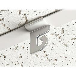 Extra Heavy Duty White Aluminum Drop Ceiling Hooks, 10 Pack