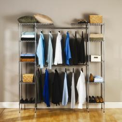 heavy duty wire expandable closet organizer hanging
