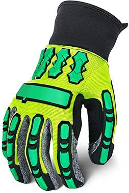 Heavy Duty Work Gloves with Knuckles pads, Anti Vibrant Safe