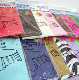 HeavyDuty Plastic Table Covers TABLECLOTH  in 22 colors and