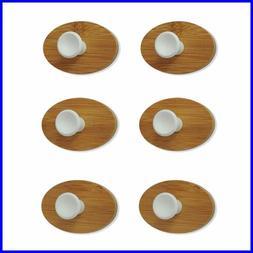 HOOKS Adhesive Hooks Wall 6 Pcs Hoks Heavy Duty Bamboo Hook