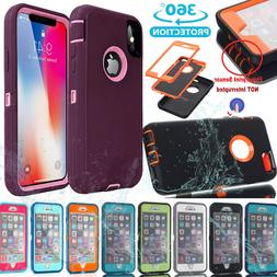 Hybrid Shockproof Hard Case Heavy Duty Rubber Cover iPhone X