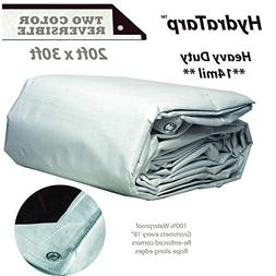 HydraTarp 20ft X 30ft Heavy Duty Waterproof Tarp - 14mil Thi