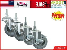 Industrial Hardware Caster Wheels Casters Set Of 4 Inch Rubb