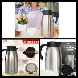 Insulated Coffee Thermos Thermal  Carafe Stainless Steel Hea