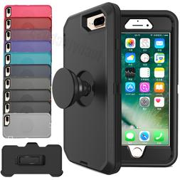 For iPhone 7 8 XR 11 Shockproof Hard Case Cover+Belt Clip Fi