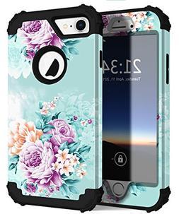 iPhone 7 Case, PIXIU Heavy Duty Three Layer Hybrid Sturdy Ar