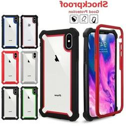 For iPhone X XR XS MAX 6s 7 8 Plus Clear Case Cover Shockpro