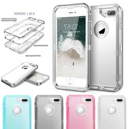 iPhone XR 6s 8 7 Plus Case Clear Defender Armor Heavy Duty S