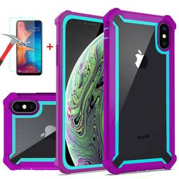 For iPhone XR XS MAX X 8 7 6s Plus Clear Case Shockproof Hea