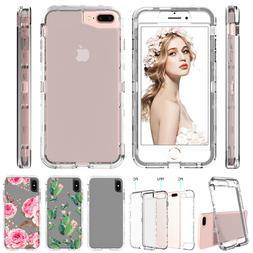 iPhone XS Max XR X 7 8 6s Plus Clear Full Shockproof Hard Ca
