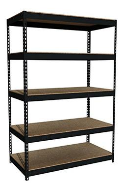 "Office Dimensions Riveted Steel Shelving 5-Shelf Unit, 48"" W"