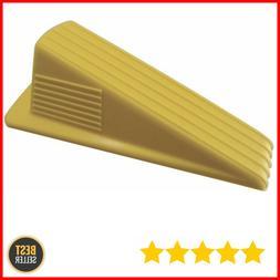 Jumbo Rubber Door Wedge Heavy Duty door stopper , Yellow Col