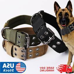 Tactical heavy duty Nylon large Dog Collar collar K9 Militar