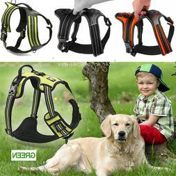 K9 Padded Pet Dog Breathable Harness Heavy Duty S M L XL Str