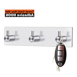 Key Hooks and Hanger, 3M Self Adhesive Stainless Steel Heavy