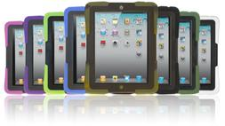 Kids Safe Heavy Duty Armor Shockproof Case Cover for iPad 2/