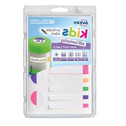 Avery Kids Self-Laminating Labels, Assorted, Pack of 48