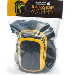 Professional Knee Pads with Layered Gel - Heavy Duty Foam Pa